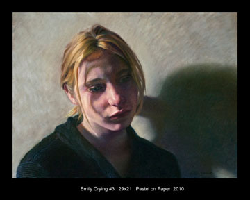 012 Emily Crying No 3 29 x 21 Pastel on Paper 2010