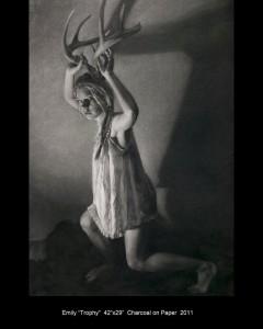 "Emily Trophy by Annie Murphy-Robinson 2011 42"" X 20"""