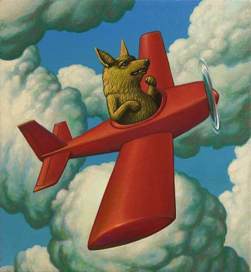 Airplane Dog by John Tarahteeff