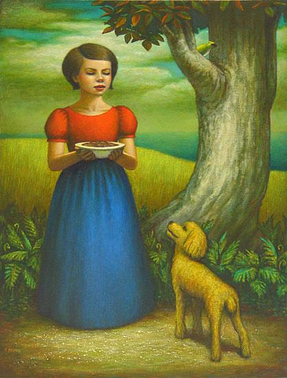 Feeding the Dog by John Tarahteeff