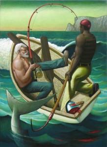 Shark Fishing by John Tarahteeff