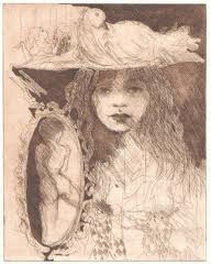 Woman With Hat by Edith Pank