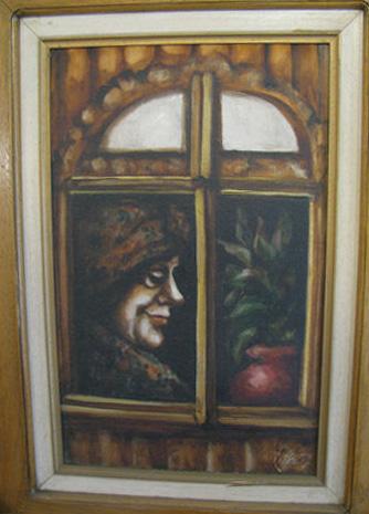 Woman in Window by Edith Pank