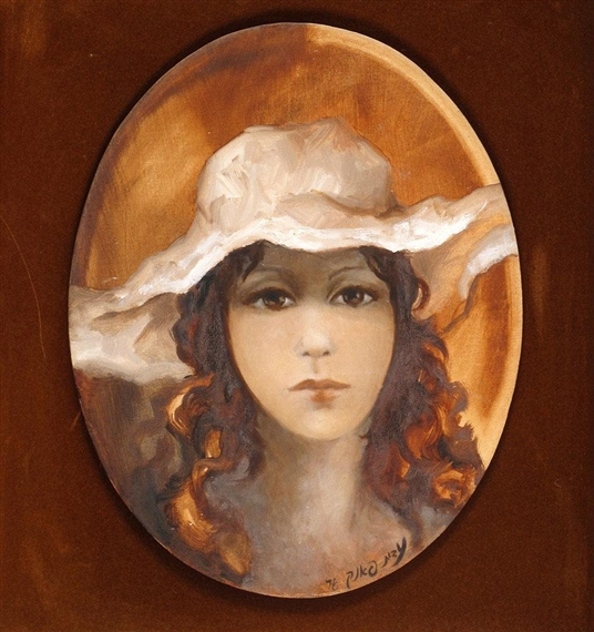 Woman with Hat by Edith Pank 02