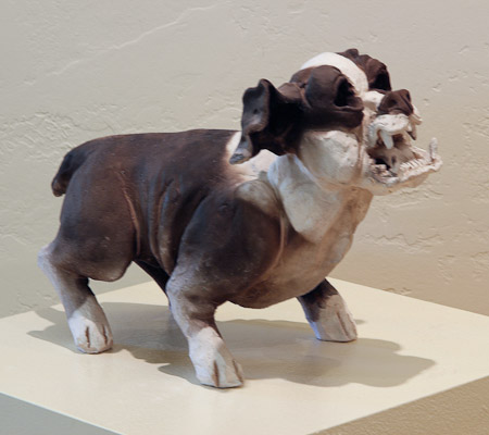 Dog sculpture by Joe Mariscal with title uncertain.